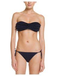 Juicy Couture | Black Prima Donna Regal Crochet String Bottom | Lyst