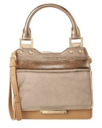 Jimmy Choo | Gray Amie Small Leather Tote Bag | Lyst