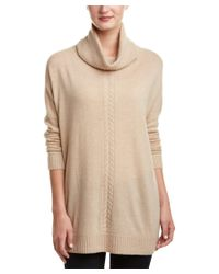 Magaschoni | Natural Cashmere Cable-trim Turtle-neck Sweater | Lyst