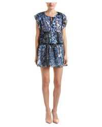 Parker | Blue Smocked Waist Shift Dress | Lyst