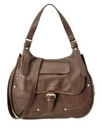 Longchamp | Brown Balzane Leather Hobo | Lyst