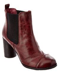 Miz Mooz | Red Iris Leather Bootie | Lyst