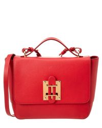 Sophie Hulme | Red Darwin Leather Satchel | Lyst