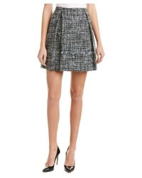 Brooks Brothers - Multicolor Wool-blend A-line Skirt - Lyst