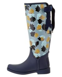 COACH - Blue Tristee Rain Boot - Lyst