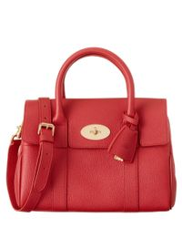 Mulberry | Red Bayswater Small Leather Satchel | Lyst