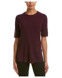 Lafayette 148 New York | Red Ribbed Cashmere Sweater | Lyst