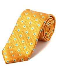 Canali | Yellow Silk Tie for Men | Lyst