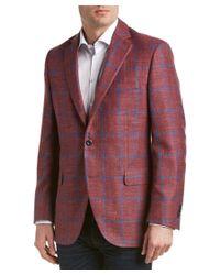 Peter Millar - Red Wool, Silk, & Linen-blend Sport Coat for Men - Lyst