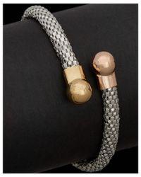 Argento Vivo | Pink 18k Over Silver Two-tone & Silver Wrap Bracelet | Lyst