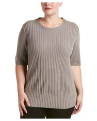 Lafayette 148 New York | Gray New York Plus Cashmere Sweater | Lyst
