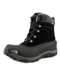 The North Face | Black Chilkat Ii Round Toe Leather Winter Boot for Men | Lyst