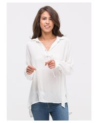 Bungalow 20 | White Lightweight Lace-up Top | Lyst