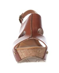 Kenneth Cole | Brown Reaction Sole-o Wedge Sandals | Lyst