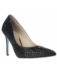 Betsey Johnson - Blue By Ariel Rhinestone Dress Pumps - Black - Lyst