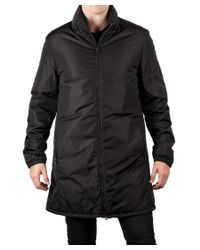 Prada | Men's Waterproof Quilted Nylon Trench Coat Jacket Black for Men | Lyst