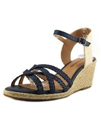 Lucky Brand | Lk-kalley2 Women Open Toe Canvas Brown Sandals | Lyst
