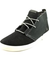 Volcom - Black De Fray Round Toe Canvas Sneakers for Men - Lyst