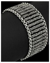 Lois Hill - Metallic Classic Silver Small Granulated Link Toggle Bracelet - Lyst