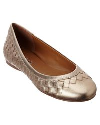 French Sole - Metallic Queen Leather Flat - Lyst
