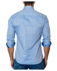 Unsimply Stitched - Blue Woven Sport Shirt for Men - Lyst