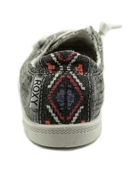 Roxy | Bayshore Women Round Toe Canvas Gray Sneakers | Lyst
