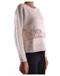 Pinko - Women's White Wool Sweater - Lyst