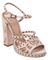 Marchesa - Multicolor Amber Suede Sandal - Lyst