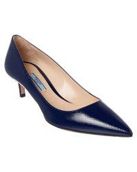 Prada | Blue 45 Saffiano Pointy-toe Pump | Lyst