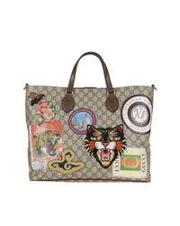 Gucci | Women's Multicolor Fabric Tote | Lyst