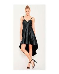 Lumier - Black Come As You Are Short Long Dress - Lyst
