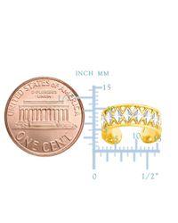 JewelryAffairs - 14k White And Yellow Gold Diamond Cut And Millgrain Design Adjustable Toe Ring 6mm - Lyst