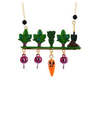 Les Nereides - Multicolor My Veggie Garden Carrot And Radishes Under Ground Necklace - Lyst