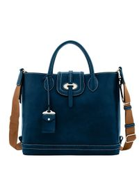 Dooney & Bourke - Blue Florentine Toscana Side Zip Tote - Lyst