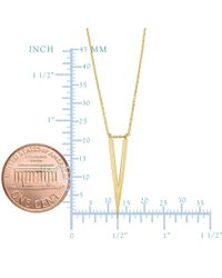 JewelryAffairs - 14k Yellow Gold V Shape Chevron Pendant Necklace, 18 - Lyst