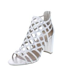 Material Girl - Womens Cadence Metallic Caged Dress Sandals - Lyst