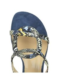 Bibi Lou - Women's Blue Leather Sandals - Lyst