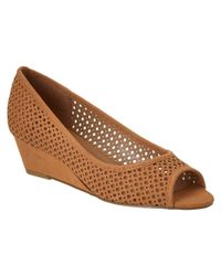 French Sole - Brown Necessary Nubuck Leather Wedge - Lyst