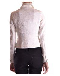 Liu Jo - Women's White Viscose Outerwear Jacket - Lyst