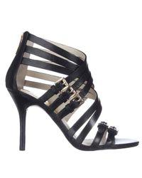 Michael Kors - Michael Ava Strappy Buckled Sandals - Black - Lyst