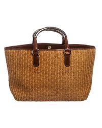 Dolce & Gabbana - Brown Raffia Miss Elsie Tote Bag - Lyst