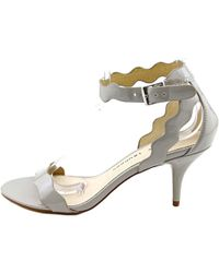 Chinese Laundry - Gray Rubie Open Toe Patent Leather Sandals - Lyst