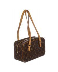 Louis Vuitton - Brown Pre Owned - Monogram Canvas Leather Cite Mm Shoulder Bag - Lyst