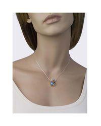 Jewelista - White Sterling Silver Gemstone Pendant - Lyst