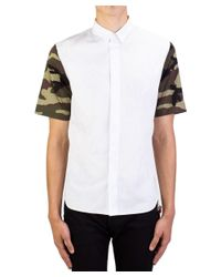 Dior - Homme Camouflage Sleeve Dress Shirt White Pinstriped for Men - Lyst