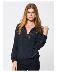 Go> By Go Silk - Black Go With Nothing But Net Top - Lyst