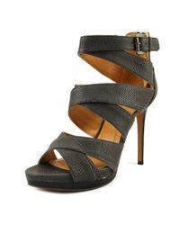 Nine West - Brown Bonjorno Women Open Toe Leather Platform Heel - Lyst