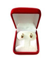 JewelryAffairs - 14k Yellow Gold Shiny Puffed Marquis Shape Stud Earrings, 6 X 10mm - Lyst