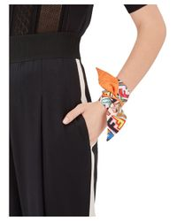 Fendi - Women's Orange Silk Bracelet - Lyst