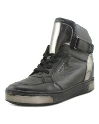MICHAEL Michael Kors - Pia High Top Women Leather Black Fashion Sneakers for Men - Lyst